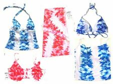 NWT Sunsets Luau Lei Coral & Luau lei Blue Bikini Swimsuits & Separates