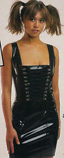 THE FEDERATION RUBBER LATEX CORSET DRESS BRAND NEW CROSS DRESS