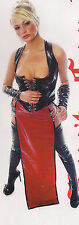 THE FEDERATION RUBBER LATEX LONG GLADIATOR SKIRT  BRAND NEW CROSS DRESS