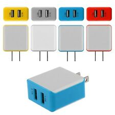 2.1A/1.5 A Dual USB 2 Ports Wall Adapter Charger US Plug For iPhone LG Samsung