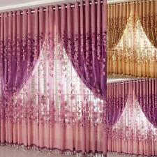 One Piece Sheer Voile Curtain Panel Set 1 Scarf Window Blackout Drapes