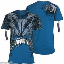 "AFFLICTION Mens SMALL Throwdown ""SPARTAN"" Skull T shirt New UFC MMA S Tee"