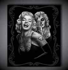 Single Picture Canvas Prints Marilyn Monroe Day of the Dead Sugar Skull Black