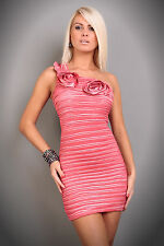 Women Dress Party Evening Cocktail Mini Dress Party Dress Roses Wrinkle Look
