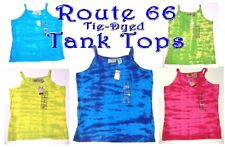 szSz XS-XL - NWT Route 66 Tie Dye Tank Tops in Pink, Turquoise, Yellow, Green