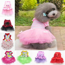 Cute Pet Clothes Puppy Dog Cat Vest T Shirt Pretty Dress Sweater XXS-XS