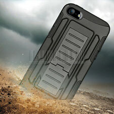 Shockproof Hybrid Rubber Hard Case Cover Skin Holster For Apple iPhone 5 5S SE
