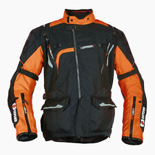 Oxford Montreal Mens Orange Motorcycle Mid-length Textile Jacket   All Sizes