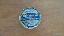 Vintage Rawleighs Medicated Ointment Tin Advertising Primitive Rustic Empty