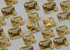 Natural Citrine Concav Cut Octagon 6x8mm- 10x14mm Calibrated Size Loose Gemstone