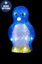 Indoor Outdoor Penguin Santa LED Father Christmas Light Decoration Garden