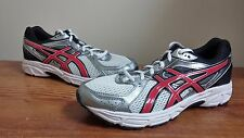 New Mens Asics Contend 2 (T424N) Silver/Red Running Shoes Multi. Size (J13)