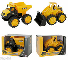 "JCB 7"" Mini Dumptruck OR Wheel Loader 18+ Months Digger Pre School Toy New Boxed"