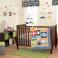 Boys World Baby Bedding Crib Cot Quilt Bumpers Sheet Mobile Wall Art US Brand
