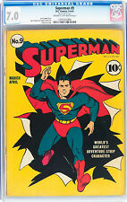 Superman #9 (1941, DC) CGC F/VF The classic Superman Fred Ray cover looks great