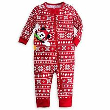 NEW Disney Mickey Mouse Red Holiday Stretchie Sleeper for Baby 12-18 M & 18-24 M