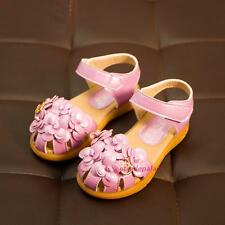 New Summer 2016 Toddlers Kids Baby Girls Princess Flowers Dress Sandals Shoes