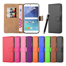New Flip Wallet Book Leather TPU Case Cover For Samsung Galaxy J7 + Screen Guard