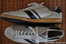 PRO-KEDS ROYAL 17M 1970'S VINTAGE LEATHER LACE UP WHITE & BLACK SNEAKERS SHOES