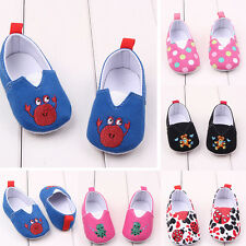 Toddler Baby Boy Girl Crib Shoes Infant Prewalker Cartoon Elastic Sneakers USA