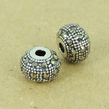 925 Sterling Silver Marcasite Barrel Handmade Bead DIY Jewelry Making WSP426