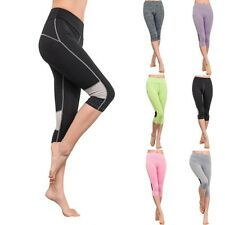 Ladies Fitness Yoga Pants High Waist Polyester Cropped Gym Workout leggings Pant