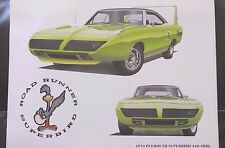 NOS Mopar Dealer Art Picture Advertising 16 Prints Set DODGE PLYMOUTH Muscle Car