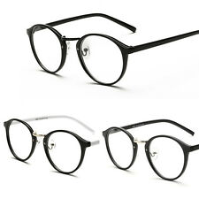 Fashion Vintage Clear Lens Eyeglasses Frame Unisex Retro Round Men Women Glasses