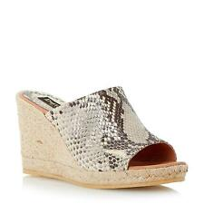 Dune Black Ladies KRISHA Mule Wedge Espadrille in Natural