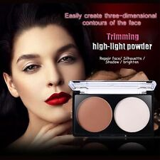 Beauty New Lady Womens Contour Shading Pressed Powder Bronzer Highlighter Makeup