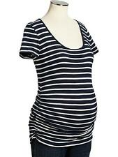 OLD NAVY MATERNITY SCOOP NECK  SHIRT TSHIRT TOP  (navy/ white stripe)