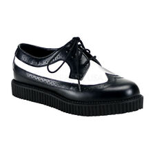 Demonia CREEPER-608 Creepers Black-White Leather Oxford Casual Men's Shoes