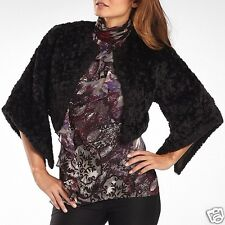 Women's Bisou Bisou Sleeved Cropped Faux Fur Jacket New Size M Msrp $100.00