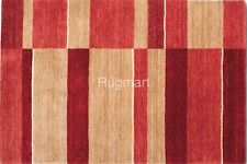 PACIFIC PAC09 Antique Washed RED RUST Modern Handmade THICK Wool Rug Runner