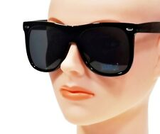 EXTRA LARGE RETRO VINTAGE CLASSIC SQUARE FRAME DARK LENS OVERSIZED SUNGLASSES