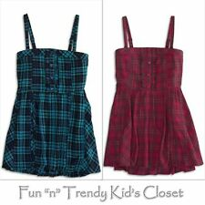 NWT 77Kids by American Eagle Girls Size 10 or 12 Plaid Smocked Tank Top Shirt