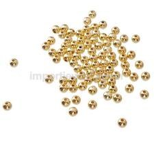 100pcs Plated Smooth Metal Golden 4mm/6mm Spacer Beads Craft handmade Jewelry