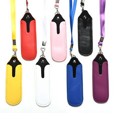 Hot E Cig Shisha Pen Holder Neck Strap Strap Lanyard Faux Leather Case Pouch FOU