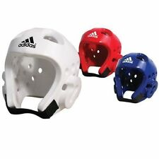 Adidas Taekwondo Dipped Foam Sparring Head Guard/Gear & Double Mouth Guard Clear