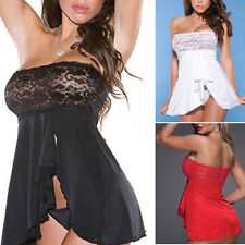 New Womens Sexy Lingerie Nightwear Sheer Lace Dress Underwear G-String Sleepwear