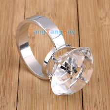 Table Crystal Diamond Ring Napkin Holders Funny Wedding Engagement Rings NEW