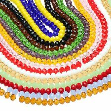 Approx 72Pcs Crystal Glass Loose Beads Rondelle Czech Spacer Beads Wholesale
