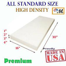 """Seat Foam Cushion Replacement Upholstery Per Sheet - All Sizes! 16""""x30"""""""