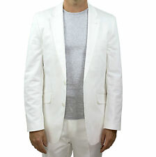 NEW - Marco Carlotti - Mens White Suit Jacket Cotton - Top Quality