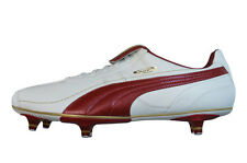 Puma King XL SG Mens Leather Soccer Boots / Cleats - White & Red 8604