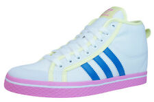 adidas Honey Stripes Up Womens Mid Top Sneakers - Shoes - White - D66039