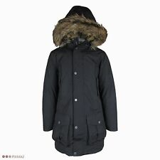 Timberland Men's Parka Waterproof Dry Faux Fur Black Hooded Coat Style 8141J