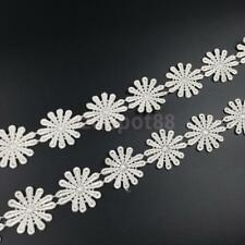 3Yard Flower Embroidered Sewing Applique Lace Floral Trim Ribbon DIY Craft