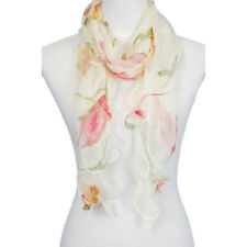 Double Layer 100% Silk, Floral Ruffle Silk Scarf, Summer scarf, Hot sale