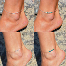Sexy Simple New Bead Infinity Silver Plated Anklet Ankle  Bracelet Foot Chain
